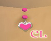 Pink Heart Belly Ring
