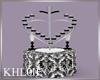 K bw wedding  hearts