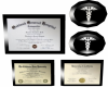 Dr Degrees Framed