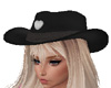 Cowgirl Hat Black