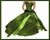 Olive green-wedding dres