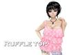 [R] Ruffle top (pk dot)