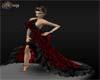 {KAY} Black red dress