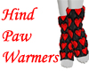 Hind Paw Warmers - Red