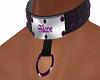 Purple Jewled Collar