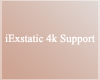 iE 4k Support Sticker