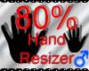 *M* Hand Scaler 80%