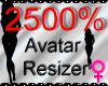 *M* Avatar Scaler 2500%