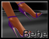 Leather Purple Heels
