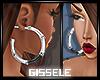 A<3 Silver Earrings