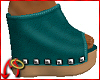 Wedge/Leather Teal