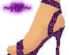 ~RP~Purple sparkle heels