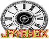 silver roman clock