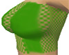 Green Fishnet Top