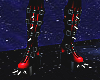 spikey red boots