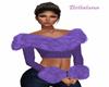 Winter purple fur top