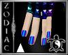 Blues male Nails