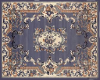 Powder Blue Floral Rug