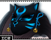 Ice * Blue Kitsune Mask