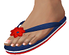 Blue Red N White Sandals