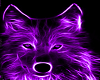 neon purple wolf rug
