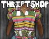 †$: Tribal Pink Blouse