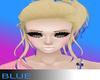 *B* blonde Purple tips
