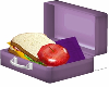 Kids Purple Lunch Box