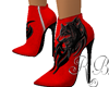 Wolf Ankle Boot Red