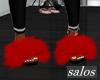 S | Fur slides red 1