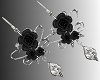 SL Black Roses Earrings