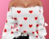 White Heart Sweater