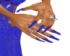 A's Cobalt Blue Nails