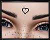 Heart Forehead Tattoo