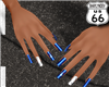 SD I <3 LA Dodgers Nails