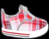 Red Plaid Kicks