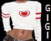 Heart red n white