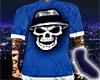 Cholo Skull Blue