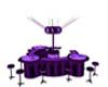 Purple paw dance bar