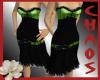 {C}Green And Black Dress