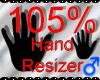 *M* Hand Scaler 105%