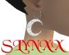 SL DiamCrescMoon Earr