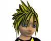 Black Yellow Cloud Hair