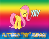 Fluttershy YAY Headsign