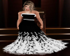 Black&White Feather Gown