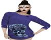 Blue Skull Rose Tshirt