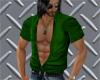 Green Open Shirt