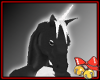 Black White horse head