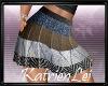 KL*Striped Pleated Skirt
