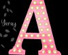 Pink Wood Letter A
